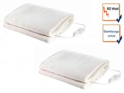 2 Stk. elektrische Fleece Unterdecken, weiche Heizdecken waschbar, Wärmetherapie