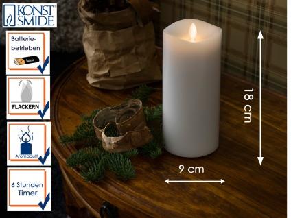 LED Duftkerze Echtwachs 6h Timer mit Lavendel Duftpad H. 18cm Stimmungslicht