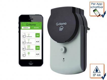 G-Homa WiFi Outdoor Schaltsteckdose, schalten per APP Funksteckdose WLAN Stecker