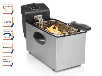 Tristar Edelstahl Fritteuse 2000W, 3 Liter, Kaltzonen Elektro Fritteuse Friteuse - Vorschau 1