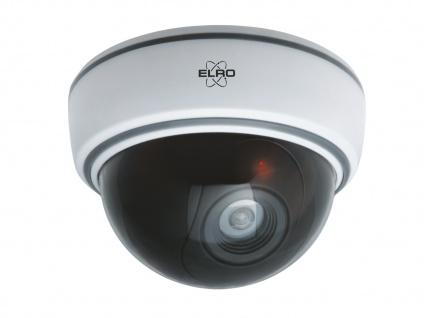 2er Set Dome Kamera Attrappe weiß LED Blitzlicht - Fake Dummy Überwachungskamera - Vorschau 3
