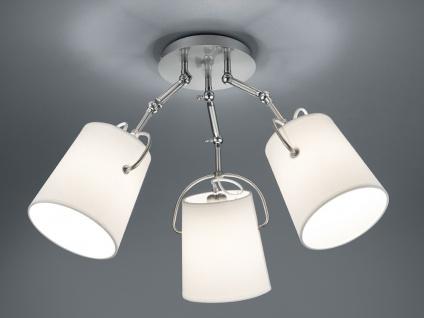 LED Deckenleuchte STOFF Lampenschirme schwenkbar weiß Ø74cm - Wohnzimmerlampen