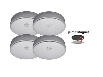 4er SET Rauchmelder 10 Jahres Batterie, VdS & Q-Siegel mit EASY Magnethalterung - Vorschau 2