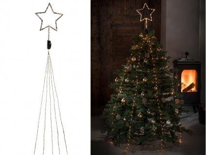 Lichterkette mit Stern indoor 247 bernsteinfarbene LED´s + Timer Weihnachtsbaum