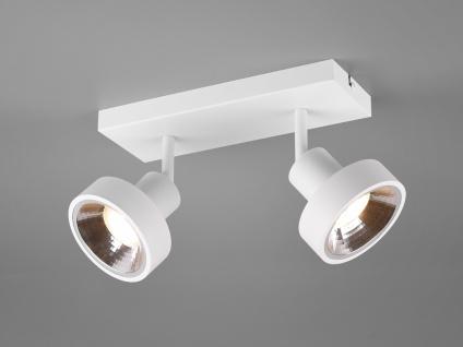 RETRO Deckenstrahler 2-flammig Weiß Beleuchtung Flur, Diele und Treppenhaus