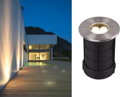 Runder LED Bodeneinbauspot Edelstahl Ø 11cm IP65 Bodenstrahler Einfahrt Terrasse