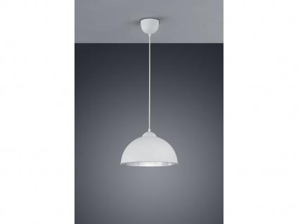 Retro LED Pendelleuchte Ø31cm in weiß/silber Hängeleuchte für Eßzimmer Flurlampe