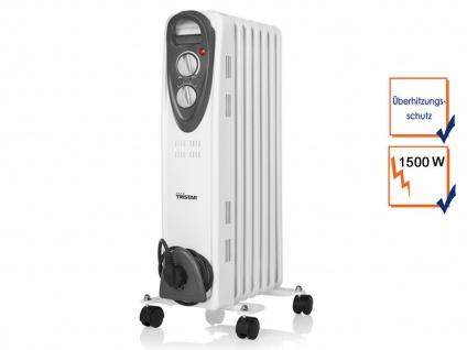 1500W Elektroheizung mit Rollen & Thermostat, Ölradiator Raumheizung Heizgerät