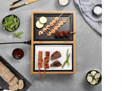 Teppanyaki Grill für 2 Personen, erweiterbar Japanischer Elektrogrill Tischgrill - Vorschau 3