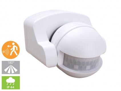 Aufputz Bewegungsmelder, weiß 8m/180°, Lux und Zeitintervall einstellbar