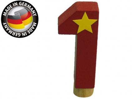 Geburtstagszahl 1 für Niermann Kerzenhalter, Holz, Happy-Zahl Geburtstag Kinder