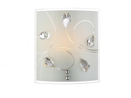 Eckige LED Wandleuchte für den Flur Treppenaufgang kleine flache Glas Wandlampe
