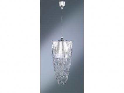 Lange LED Pendelleuchte mit Acryl Kristallbehang für Treppenhaus Flur und Diele