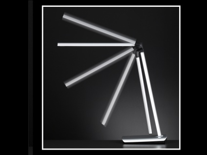 2er Set LED Schreibtischleuchte neigbar Touchdimmer USB Anschluß Silber Büro - Vorschau 5