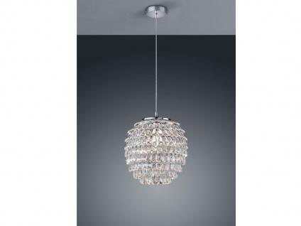1 flammige Designer Pendelleuchte Lampenschirm Ø35cm mit Acryl Kristallbehang