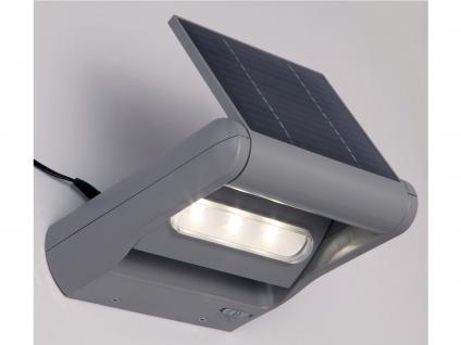 2er Set LED Außenwandleuchte Solar dimmbar & drehbar IP44 Solarlampe Garten - Vorschau 5