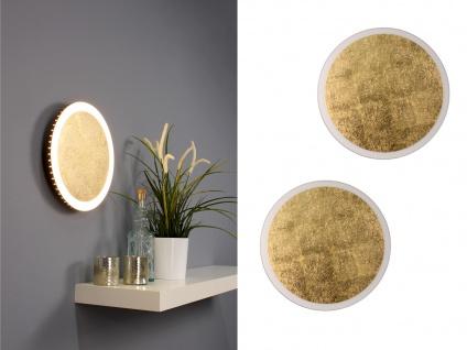 Angesagte LED Innenlampe für Wand und Decke mit Blattgoldoptik Design rund 30cm