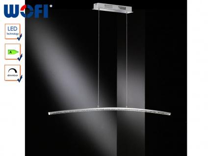 Dimmbare LED Pendelleuchte, Chrom / Acrylgas, Wofi-Leuchten