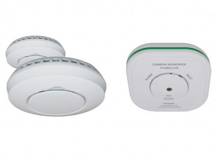 Sicherheitsset: 2 Funkvernetzte Rauchmelder + Kohlenmonoxidmelder, Lebensretter - Vorschau 2