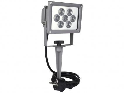 LED-Schweinwerfer IP44, 7 LEDs à 1 Watt, auf Erdspieß ELRO