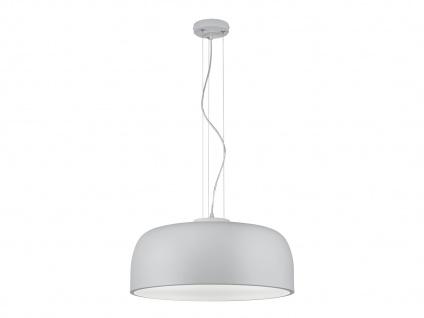 Zeitlose BARON Pendelleuchte für Innen aus matt weißem Metall, Durchmesser 52 cm