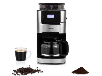 Kaffeemaschine 10 Tassen mit Bohnen Kaffeemühle Kegelmahlwerk & Permanentfilter