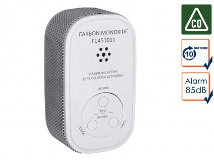 Kohlenmonoxid-Melder 10 Jahres Batterie & 10-Jahres Sensor Gasmelder CO-Melder