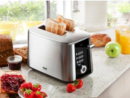 Design Toaster Schnell-Toast-Technologie 50% schneller 1600 Watt Toster 7 Stufen