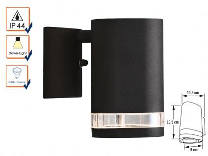 Aluminium Wandleuchte MODENA schwarz, GU10, Höhe 13, 5 cm, IP44