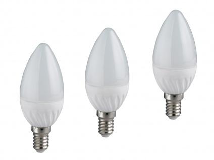 LED Leuchtmittel mit einem E14 Sockel, 3er SET mit je 4W & 320lm, kerzenförmig