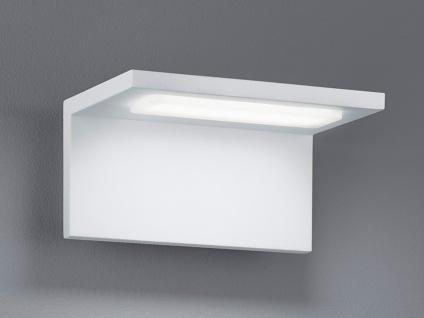 Design LED Außenwandleuchte Weiß, moderne Terrassenbeleuchtung Wand, Außenlampen