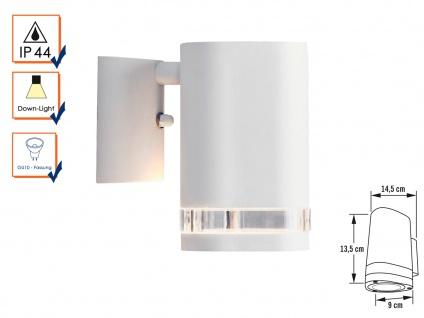 Aluminium Wandleuchte MODENA weiß, GU10, Höhe 13, 5 cm, IP44