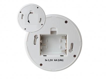 2er Set Dome Kamera Attrappe weiß LED Blitzlicht - Fake Dummy Überwachungskamera - Vorschau 4