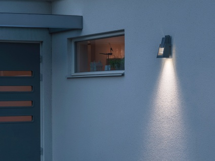 2er Set dimmbare Außenwandleuchten schwarz 350Lm, austauschbares LED Modul - Vorschau 3