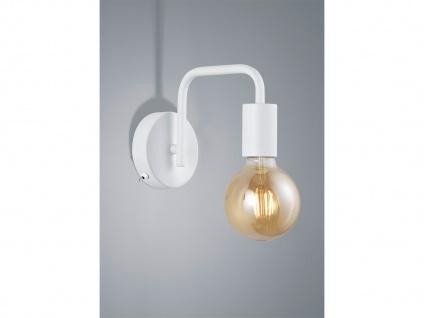 Moderne Dielenleuchte aus Metall in weiß matt mit FILAMENT LED, Wandbeleuchtung
