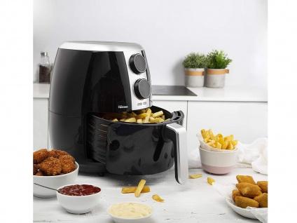 Heißluft Friteuse ohne Fett & Öl 4 Portionen, Pommes Fritteuse Luft Crispy Fryer