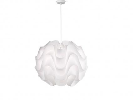 Moderne Kugel 3 LED Pendelleuchte aus Kunststoff weiß Ø 55cm dimmbare Hängelampe
