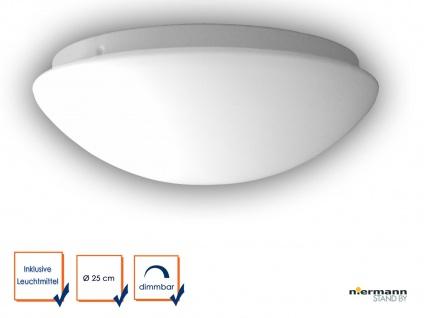 LED Deckenleuchte Deckenschale rund OPAL Glas matt Ø25cm LED Küchenlampe dimmbar