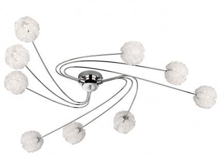 Design Deckenleuchte mit LED 9 Kugelschirme Kunststoff Weiß Wohnzimmerleuchten - Vorschau 1
