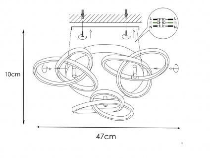 Raffinierte Deckenleuchte LED Blattgold-Optik 39W - Designerleuchten Esszimmer - Vorschau 4