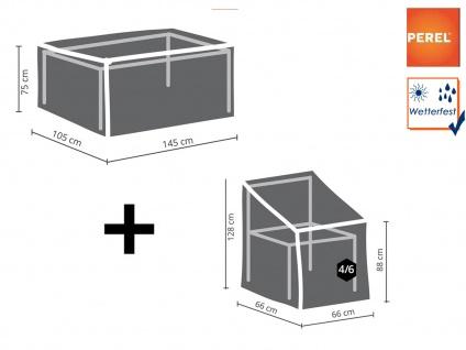 Schutzhüllen Set: 1x Hülle für Tisch max. 140cm + 1x Hülle für 4-6 Stapelstühle - Vorschau 1