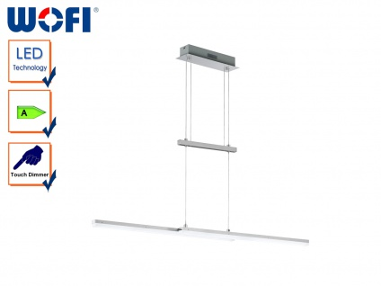 LED Pendelleuchte CALGARY, Nickel matt, Hängelampe Pendel Hängeleuchte Design