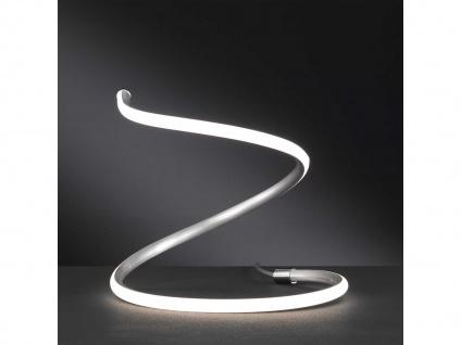 LED Tischleuchte Nickel matt H. 30cm Dekoleuchte Tischlampe Wohnzimmer Diele