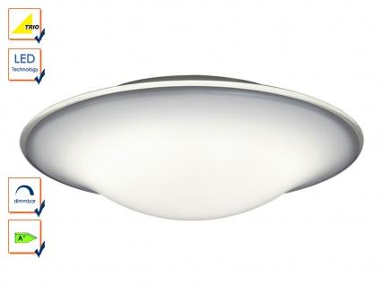 LED Deckenleuchte Deckenlampe rund 45cm, dimmbar, weiß, Design Leuchte, Trio