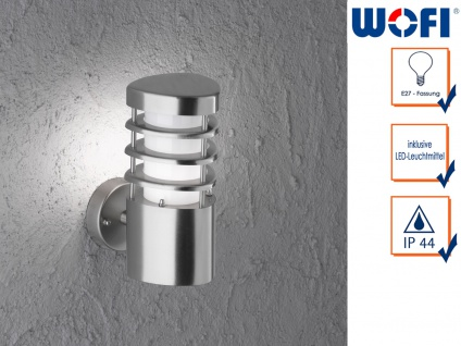 LED Wandleuchte / Außenleuchte in Edelstahl H. 22cm Fassadenbeleuchtung Haus
