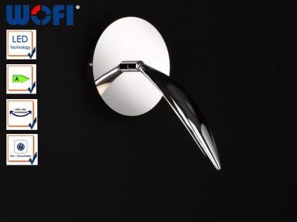 Schwenkbare LED Wandleuchte / Leseleuchte mit Schalter, Wandlampe Chrom