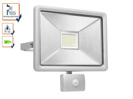 Flacher LED Fluter mit Bewegungsmelder, 50W, 4150 Lumen, 100° x 10 Meter