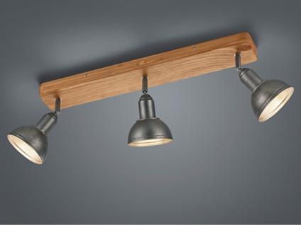 Industrial LED Deckenstrahler 3 flammig, Retro Lampe Holzbalken über Kochinsel