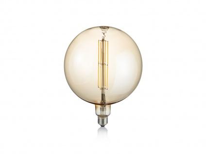 Großes Rundes Industrielook LED Leuchtmittel E27 dimmbar aus Glas in warmweiß - Vorschau 2