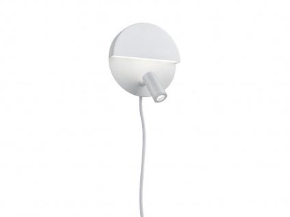 LED runde Wandlampe mit mehreren Lichtquellen, getrennt schaltbar, weiß matt